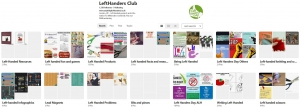 Left-Handers Club Pinterest Page