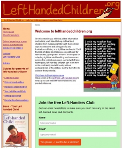 Left-Handed Children website