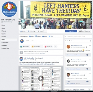 Left-Handers Day website
