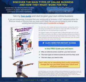 Keith's free guide to online businesses